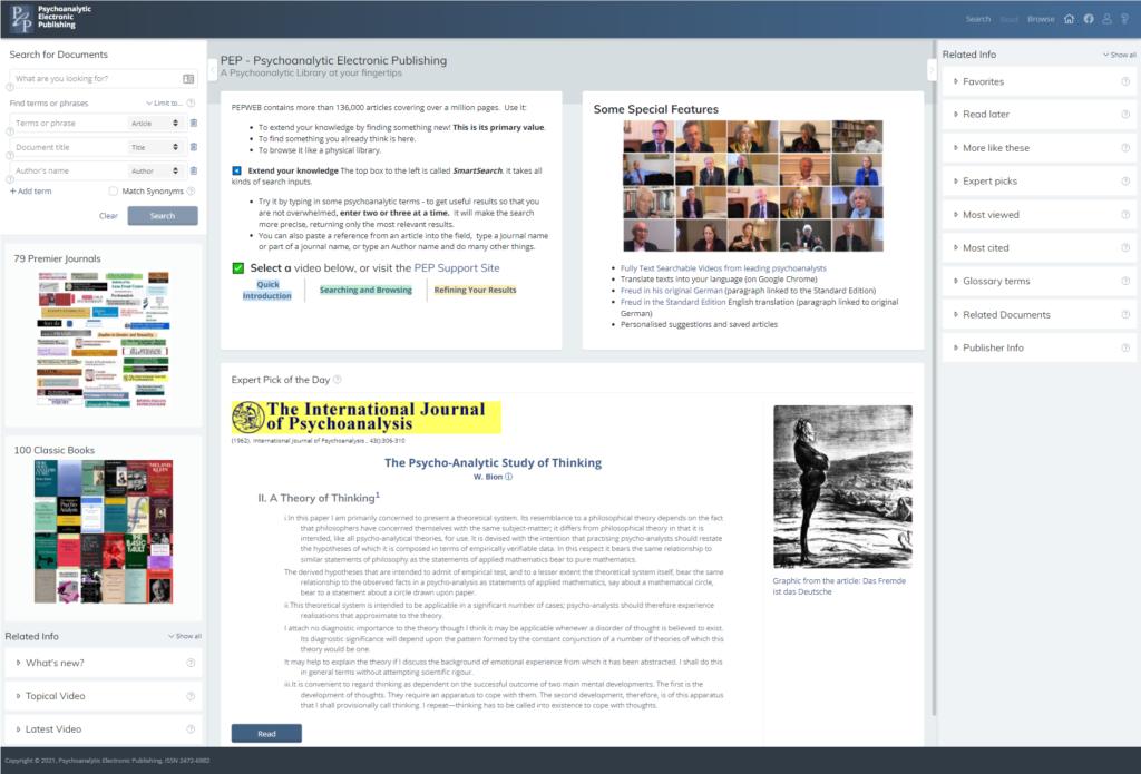 New PEP-Web Interface